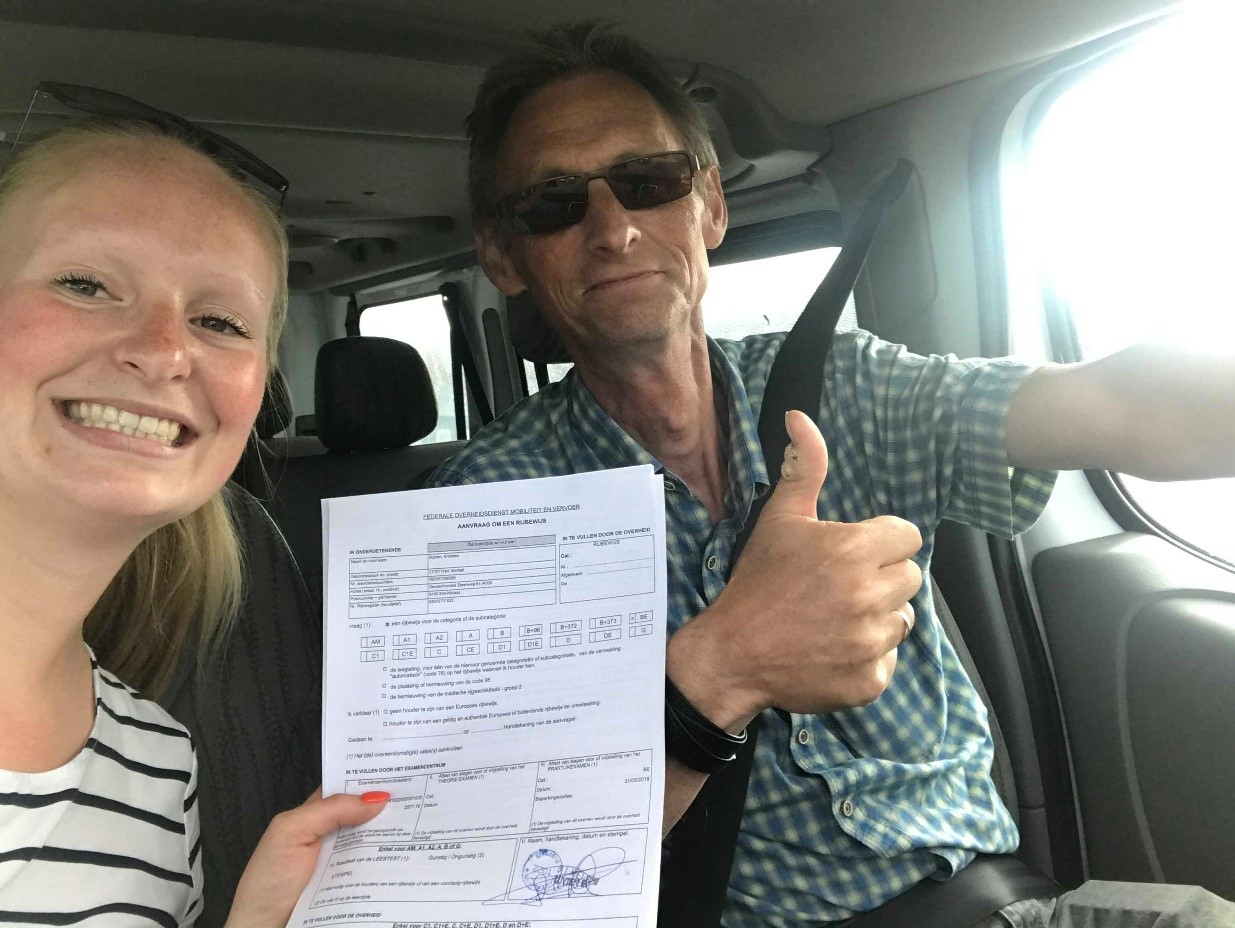 BE rijbewijs - permis BE